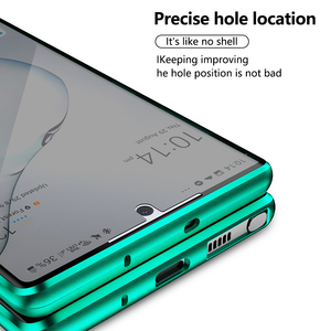 Image 4 - Funda de cristal de adsorción magnética de Metal 2020 para Samsung Galaxy Note 8 9 10 Plus S10 S9 S8 Plus, protector de pantalla antiespía