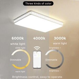 Image 4 - Visdanfo modern Acryle yuvarlak LED tavan lambası AC220V değiştirilebilir lambaları oturma odası için ışıkları fikstür yatak odası ev aydınlatma