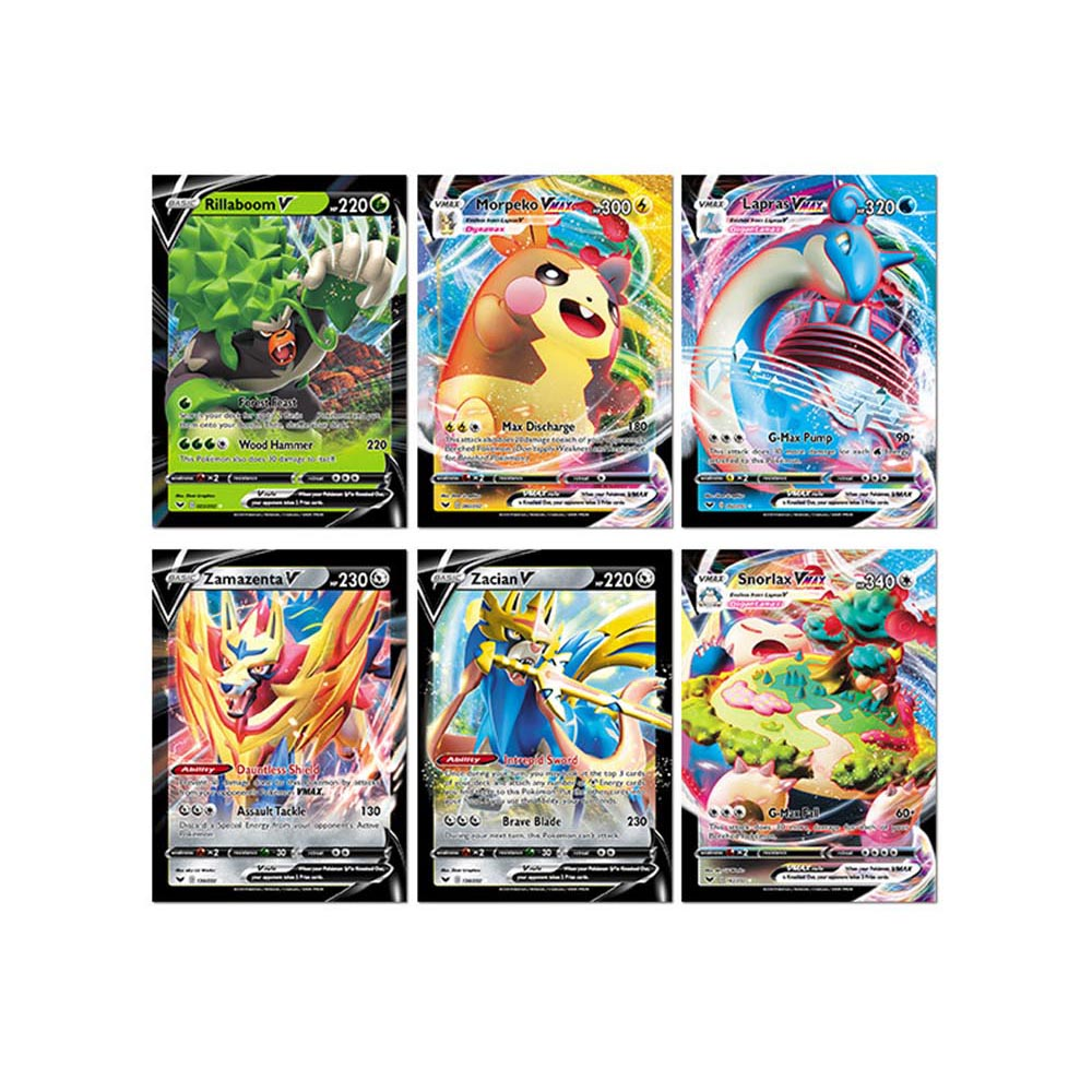 2020 324pcs Pokemon Pokeball Action Figures Trading Card Game Set Booster Box Sword Shield Vmax English Edition Children Toy