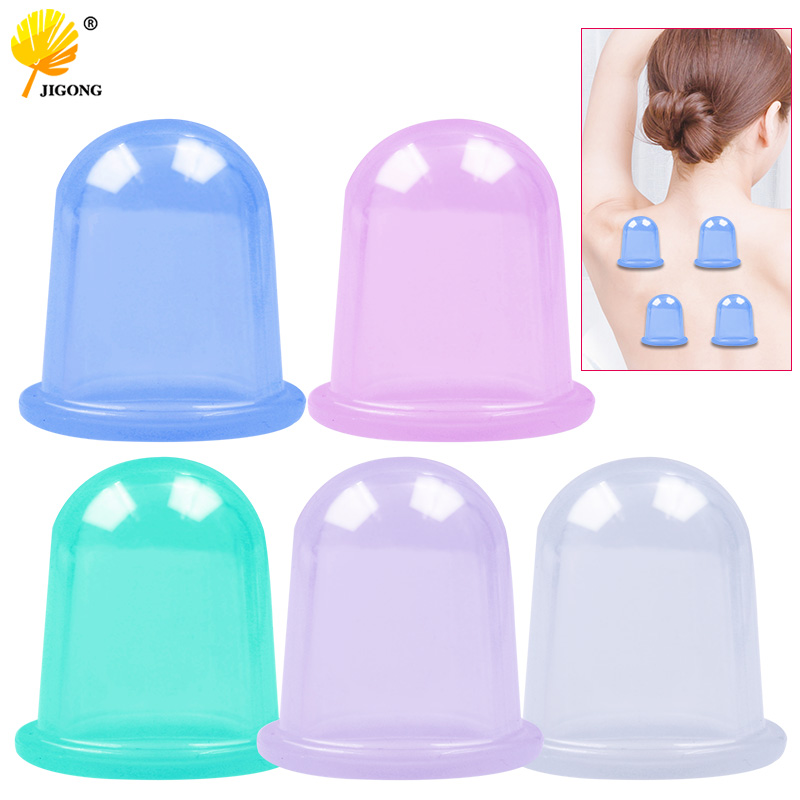Anti Cellulite Vacuum Silicone Cups Family Body Massage Tool Helper