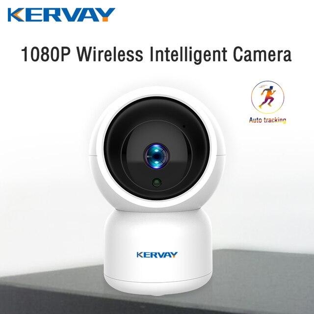 1080P HD واي فاي كاميرا شبكة مراقبة كاميرا ليلية داخلي المنزل P2P كاميرا تلفزيونات الدوائر المغلقة واي فاي وظيفة Onvif كاميرا مع اتجاهين الصوت