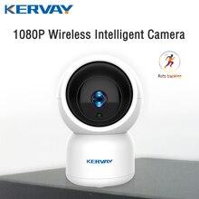 Onvif cámara de vigilancia nocturna para interiores Dispositivo de vigilancia con Wifi, HD, 1080P, P2P, CCTV, función Wifi, Audio bidireccional