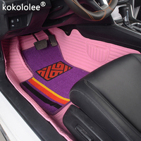 kokololee Custom car floor mats for honda Fit accord CRV civic city jazz CRZ URV ENVIX stream elysion spirior insight foot mats