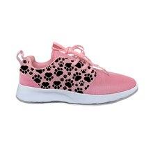Кроссовки женские с котом и лапками, милые смешные дышащие легкие спортивные беговые кеды с мультяшным 3D-принтом, повседневная обувь для же...