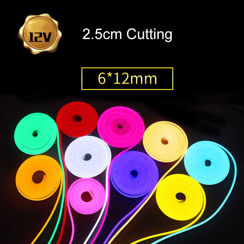 Neon Licht LED Strip 12V Flexibele SMD2835 120 leds/m Silicon Rubber Outdoor Vakantie Decor Neon lamp IP67 waterdichte Led Verlichting