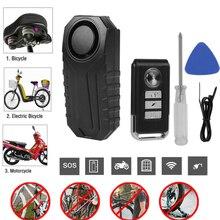 113db беспроводная Противоугонная Вибрация USB перезаряжаемая мотоциклетная велосипедная тревожная Блокировка Водонепроницаемый пульт дист...