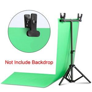 Image 5 - Fotografie Foto Studio T Vorm Achtergrond Stand Frame Ondersteuning Systeem Kit Voor Video Chroma Key Groen Scherm Met stand