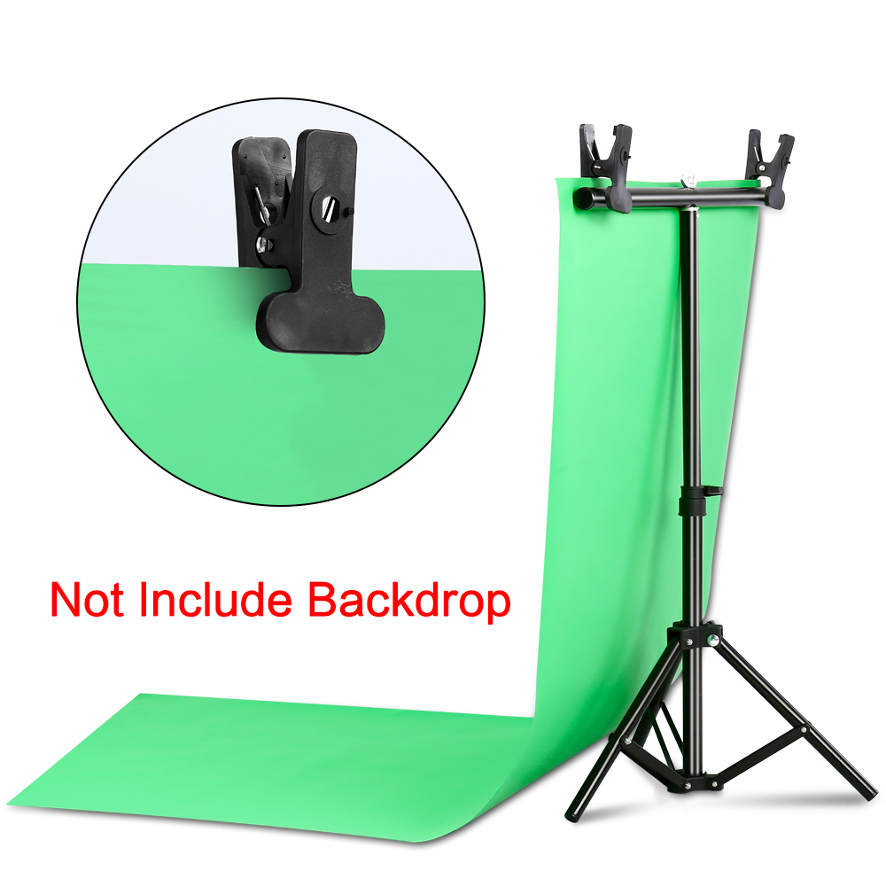 Image 5 - Photography Photo Studio T shape Backdrop Background Stand Frame Support System Kit For Video Chroma Key Green Screen With StandBackground   -