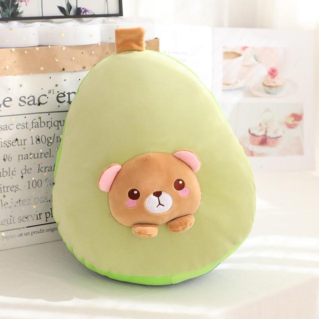 איכות גבוהה 3 ב 1 אבוקדו בפלאש צעצוע ממולא חום דוב צעצוע ב אבוקדו כרית עם פליז שמיכת צד בית ספר תנומת כרית