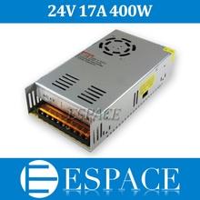 Beste qualität 24V 17A 400W Schalt Netzteil Treiber für Led streifen AC 100 240V Eingang zu DC 24V freies verschiffen