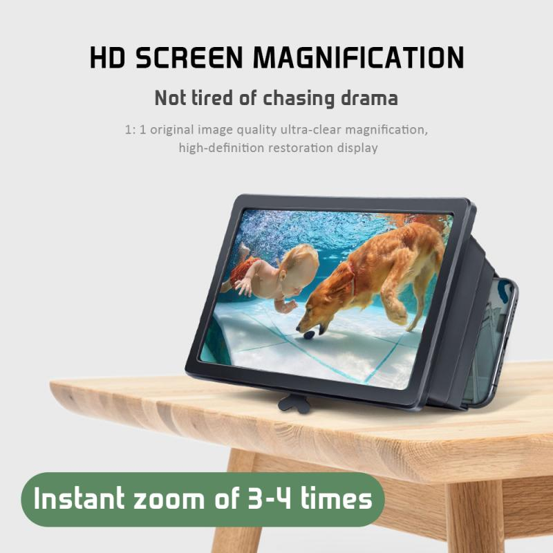 Portable 3D Foldable Mobile Phone Video Screen Magnifier For IPhone 6 7 8plus Samsung Xiaomi 8 Cell Phone Video Screen Amplifier