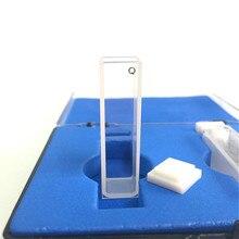 Quarz Küvette Licht Pfad 10 mm Quarz Absorption Zelle 3,5 ml Flüssigkeit Probe Zelle Spektrometer Zelle Fritte Sintern Technologie 2/PK