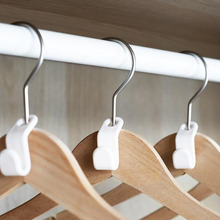 Clothes Hanger Hook Folding Storage Wardrobe Hanging Hanger Connection Hook  Space Saving Connectors