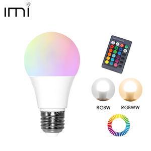 LED RGB Bulb E27 Light RGB RGBW RGBWW Dimmable IR Remote 5W 10W 15W AC 220V Colorful Magic Holiday Bar Club Night Smart Lamp(China)