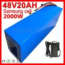 1000 Вт, 2000 Вт, 48 В, 20ач, аккумулятор для электрического велосипеда samsung, 48 В, Электрический скутер, литиевая батарея с BMS+ 2A зарядным устройством