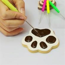 5PCS Fondant Cake Needle Steel Wire Icing Sugar Craft Marking needle DIY Fondant Cake Decorating Scriber Needle Model