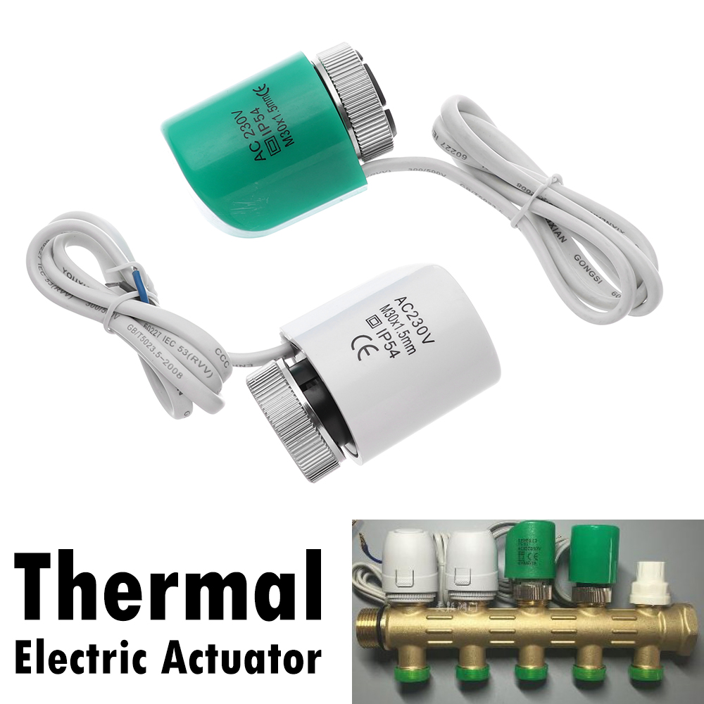1Pcs 230V NO NC Electric Thermal Actuator Valve Head For Normally Open Closed Floor Heating Radiator Thermostat Manifold Closed