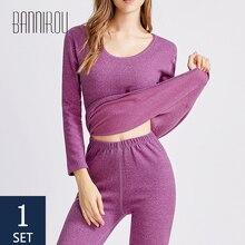 Thermal-Underwear Woman's Women Winter Sleep-Wear BANNIROU Female