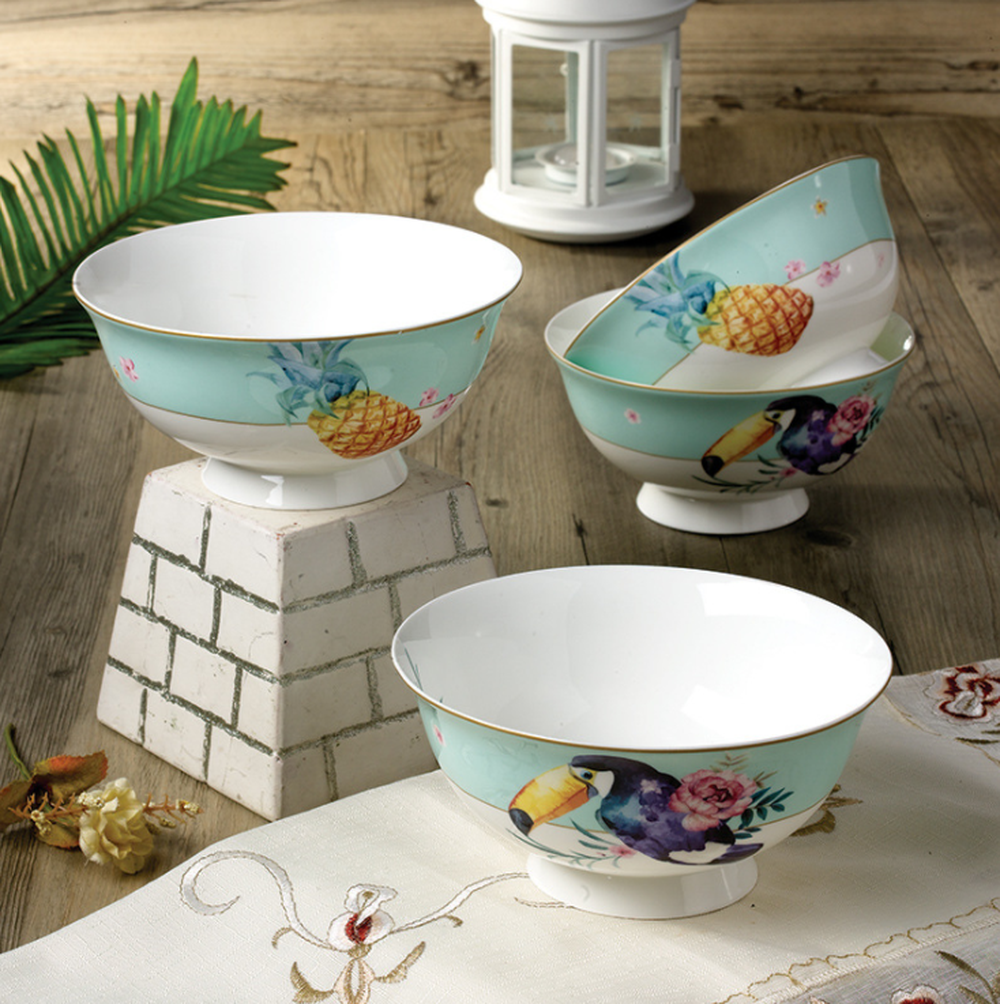 Hot Offer B8f9 Ceramic Dish 6 Inch Large Bowles Bone China