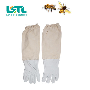 Image 5 - Beekeeping Gloves Protective Sleeves Ventilated Professional Sheepskin And Canvas Anti Bee For Apiculture Beekeeping Gloves