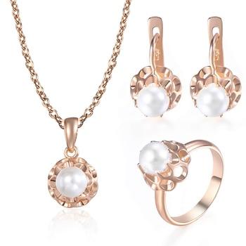 סט תכשיטים - עגילים שרשרת וטבעת 1