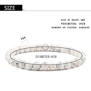 Hot Trendy Men Lava Stone Couples Distance Bracelets Natural Stone White Black Yin Yang Beaded Bangles For Women Friend Pulseira 5