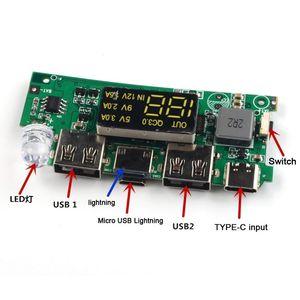 Image 3 - Duplo usb qc 3.0 8x18650 bateria diy power bank box carregador para iphone xiaomi celular tablet