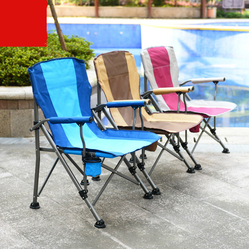 High Quality Outdoor Large Fishing Chair Portable Folding Chair Stool Leisure Beach Sketching Chair Oxford Cloth Iron cadeira in Office Chairs from Furniture