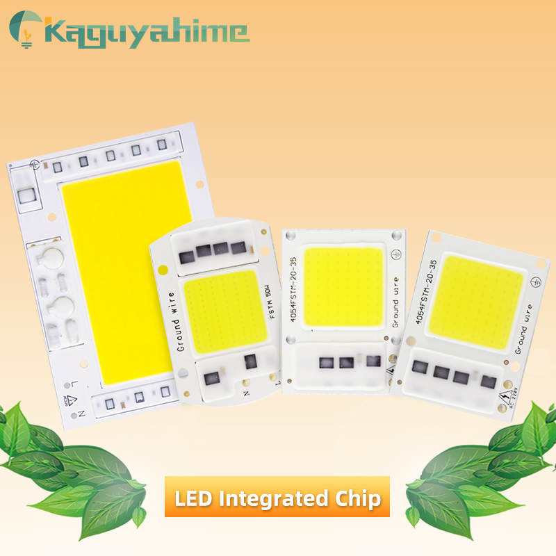 Kaguyahime AC 220V Integrated COB LED Lamp Chip 50W 30W 20W 10W 5W Smart IC Driver For DIY Floodlight Spotlight Projector Grow