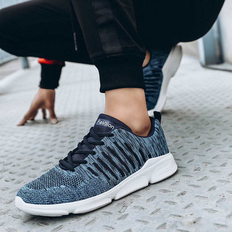 Men Shoes Soft Knit Casual Sneakers Male Luxury Brand Breathable Light Spring Mesh Men Trainers Mocassin Homme Chunky Dad Shoes