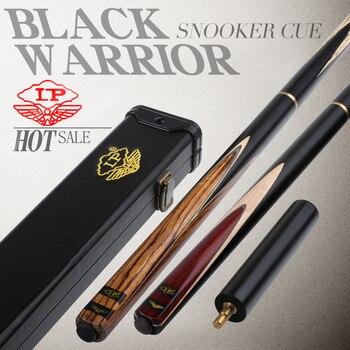 цена на High quality LP Billar Black Warrior Snooker Cue 3/4 Split Cue 10mm Tip Handmade Stick Professional Quick Teeth Joint Billiards