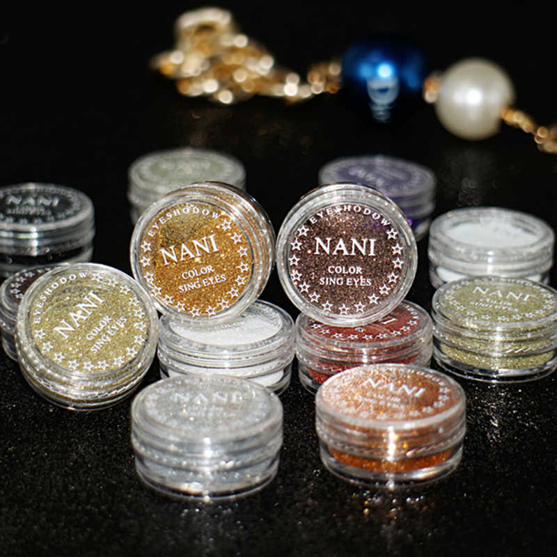 Mata Studio Eye Shadow Metalik Glitter Shimmer Cream Eyeshadow Tahan Lama Tahan Air Lembut Makeup Glitter Sparkle Bubuk TSLM1