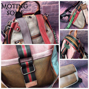 Image 5 - Vintage Genuine Leather Backpack Women Real Leather Retro Style Patchwork Travel Shoulder Bags School Ladies Mochilas 2020 New