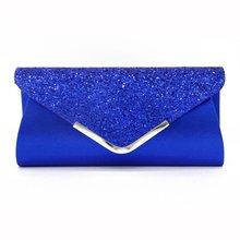 Senhoras sacos de embreagem azul carteira festa saco banquete envelope sacos elegante festa à noite cruz corpo saco preto