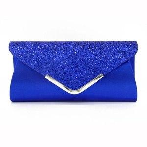 Image 1 - Senhoras sacos de embreagem azul carteira festa saco banquete envelope sacos elegante festa à noite cruz corpo saco preto