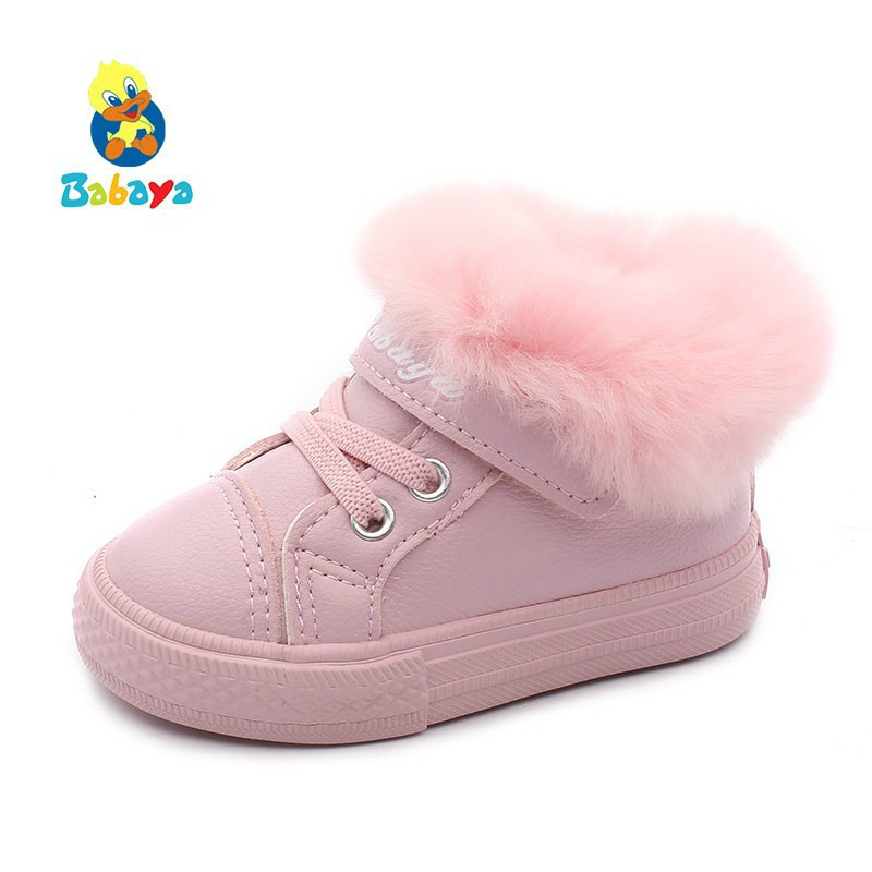 Baby Winter Shoes 1-2-3 Year 2019 Winter Boots Plus Velvet New Fashion Cotton Keep Warm Children Cotton-padded Shoes Toddler