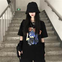 Japanese Cartoon Anime T Shirt Oversized Women T-shirt Print T-shirt Harajuku Female Clothes Streetwear Tops Tee Shirt Student