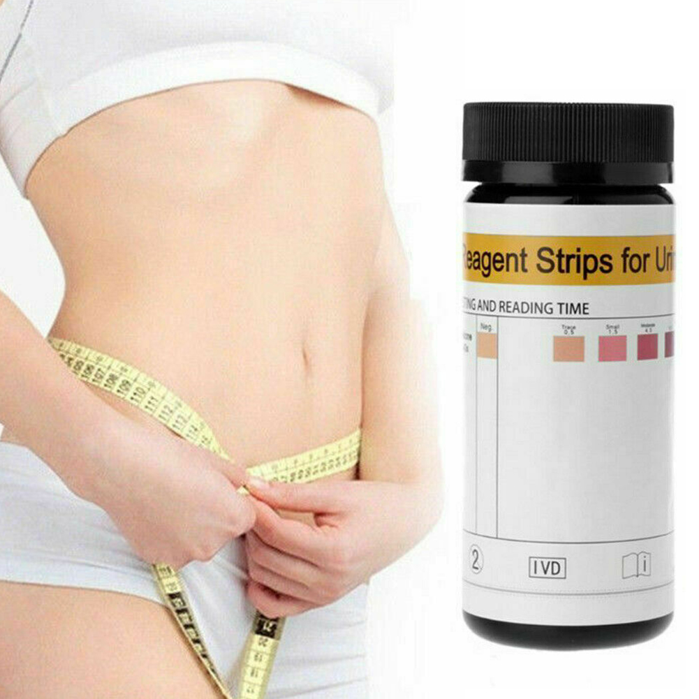 100Pcs Urine Ketone Test Strips Practical Easy Operate Measurement Disease Prevention Urine Weight Lose Analysis Supplies