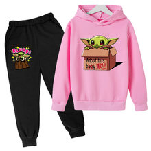 Baby Yoda Toddler Girl Fall Clothes Cotton Shirts for Teenage Girls Hooded Boys Long Sleeve Tops Boutique Suit Kids Clothing