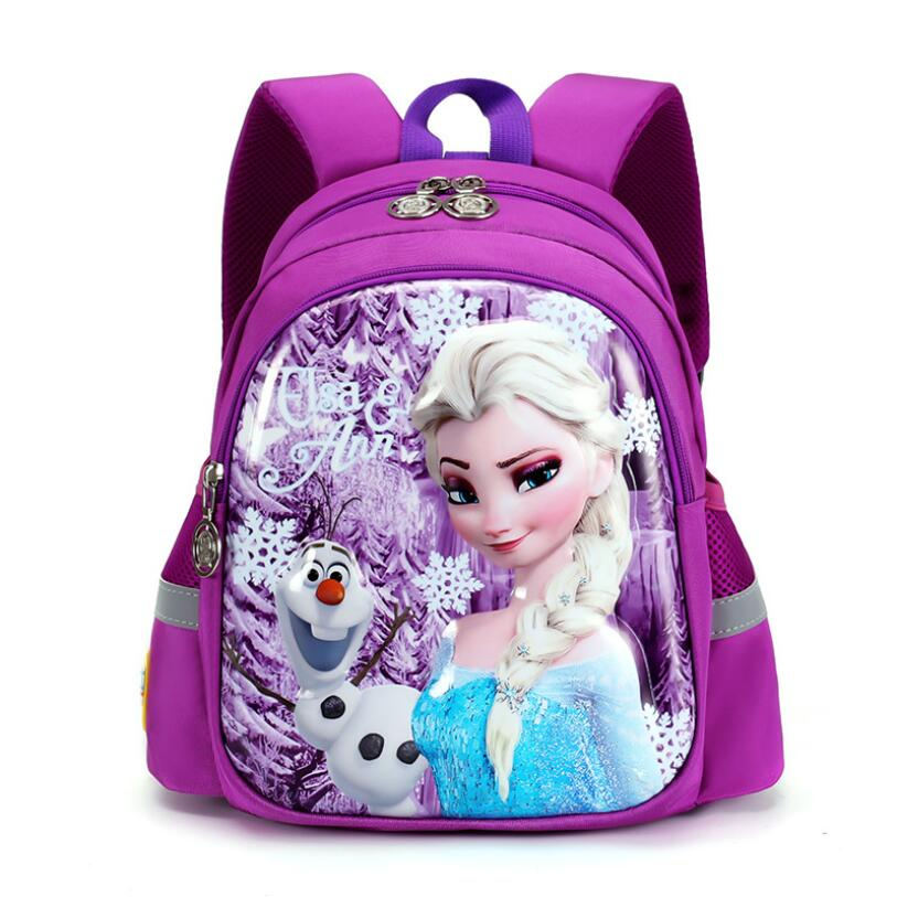 Lovely Cartoon Elsa Anna Pattern Backpack Children Kid School Bag Girls Bags Nylon Backpacks Kids SchoolBags