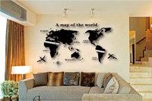 Wall Art Decal Wereldkaart Sticker Globe Aarde Decor Voor Kid S Kamer Home Diy Spiegel 3D Acryl Self  zelfklevende Verwijderbare