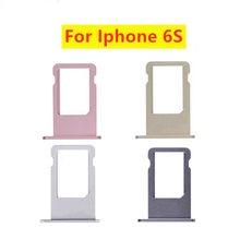 Bandeja para cartões de iphone, para modelos iphone 6s 6s plus, nano, sim, cinza, prata, dourado, rosa, dourado peças de reparo do suporte