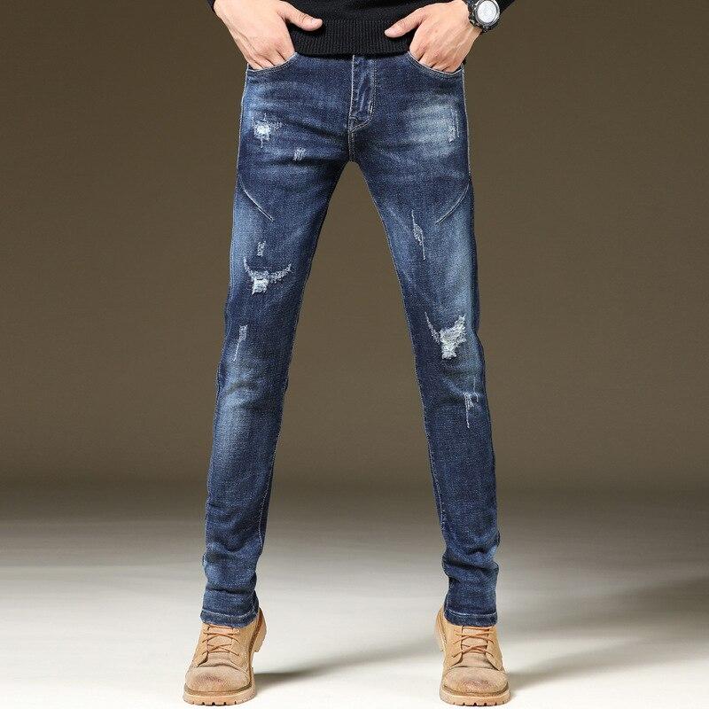 Autumn And Winter New Style Men's Wear Korean-style Skinny Pants Elasticity Jeans Men's Pants Men's Jeans 319