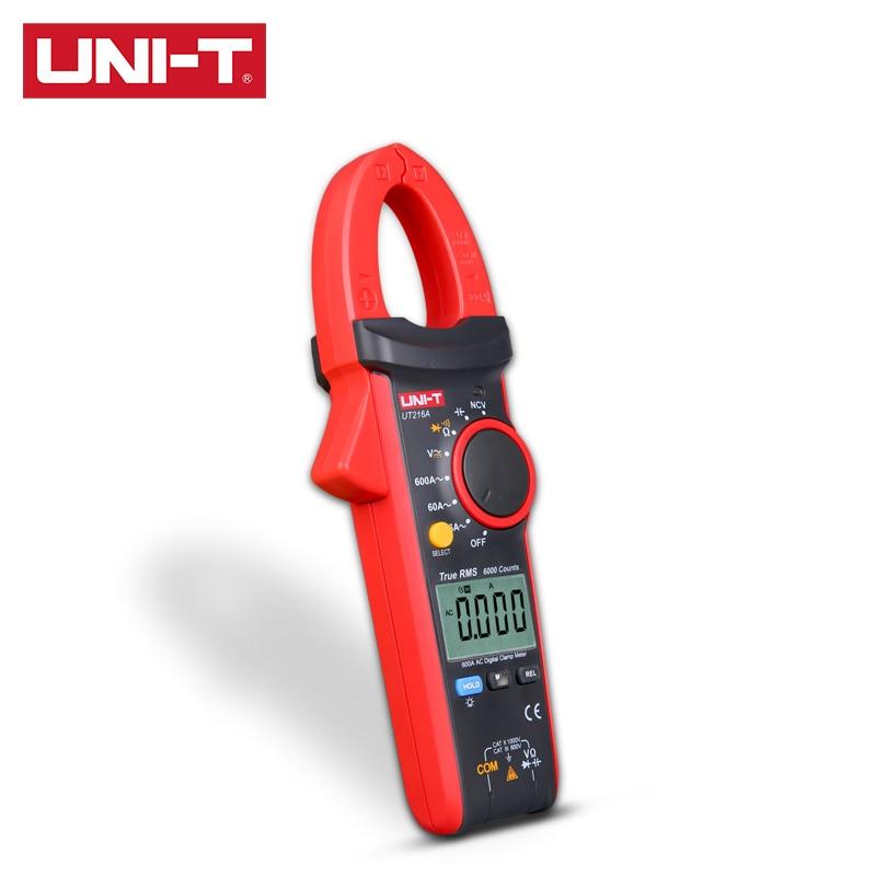 UT216D T UT216 Clamp VFC UT216C 600A Digital UT216B Series  MAX NCV UNI Relative UT216A Flashlight RMS Modes True MIN Meter