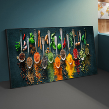 Herbs and Spices for Cooking Canvas Art Posters And Prints Kitchen theme Canvas Paintings On the Wall Art Pictures Cuadros Decor kitchen theme wall poster and prints various seasonings canvas art paintings on the wall canvas art pictures cuadros decoration