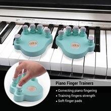 SOLO piyano parmak eğitmenler parmakları kuvvet eğitimi araçları parmak düzelticiler yumuşak parmak pedleri piyano klavyesi acemi için 1 çift