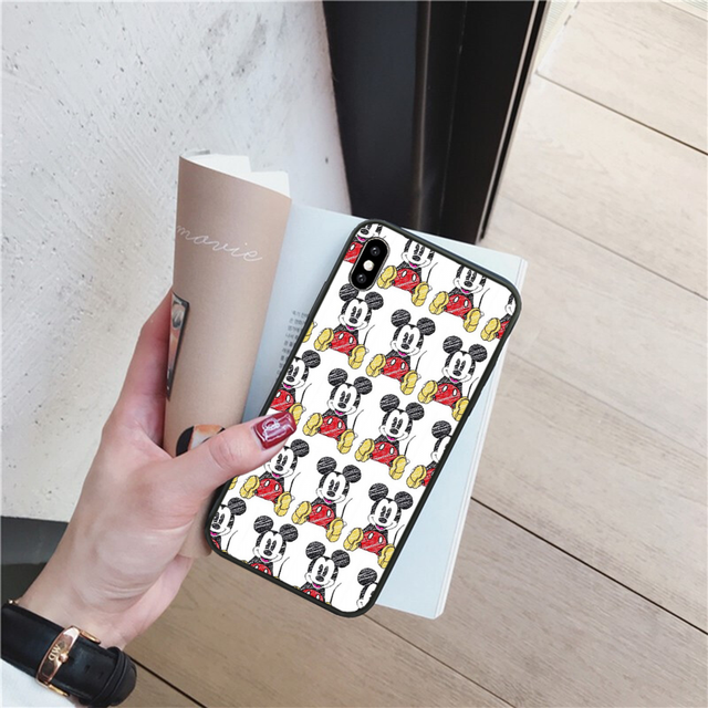 Reayou Kissing Lovers Mickey Minnie Mouse Phone Case Cover Hull for iPhone 11 pro XS MAX 8 7 6 6S Plus X 5 5S SE XR cover