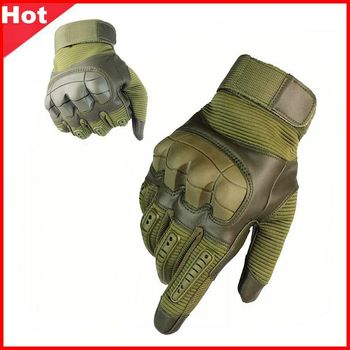 Outdoor Sports Tactical Gloves Climbing Camping Cycling Gloves Men's Full Gloves Military Armor Painball  Protection Gloves outdoor sport tactical military men gloves armor protection full finger gloves for riding hiking climbing training
