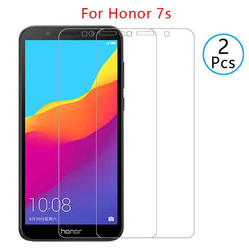 tempered glass on honor 7s protective glas screen protector for huawei honer onor honor7s 7 s s7 film 5.45 huawey huwei hawei 9h(China)