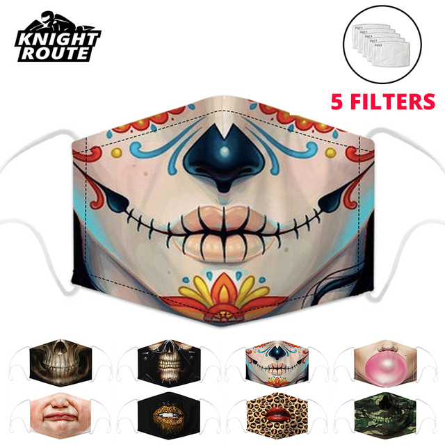 Motorcycle Face Mask Mouth Caps Balaclava Moto Mask Dust Activated Carbon Filter Dust Protection Mask Reusable Men Women